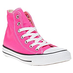 Converse Unisex's CHUCK TAYLOR ALL STAR HI BASKETBALL SHOES 6 (PINK HI)