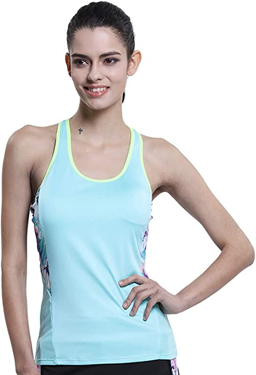 GYM WOMEN/'S YOGA KNOT VEST TOP WICKING TOP FOR YOGA FIT WORK OUTS KEEP COOL