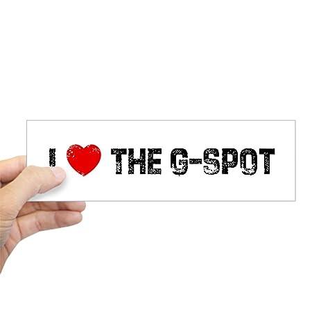 Cafepress i the g spot bumper sticker 10x3 rectangle bumper