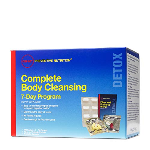 GNC Preventive Nutrition Complete Body Cleansing Program California Only, 7 Items, Supports Overall Wellness and Digestive Health (7 Meals A Day For Weight Loss)