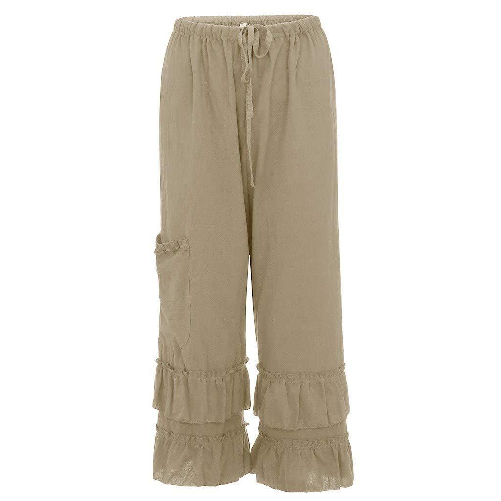 Beikoard Pantalones de Cintura Alta Mujer MujerPies ...