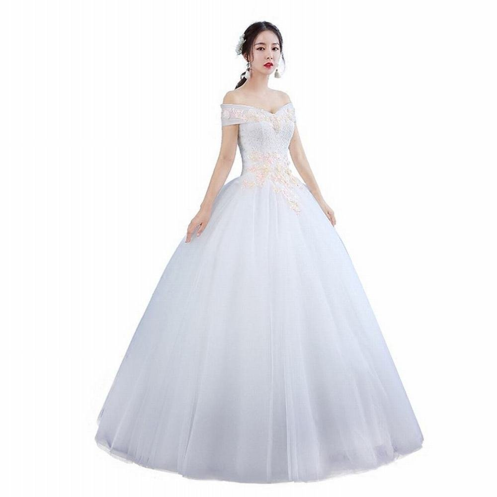 AN One-Shoulder Brautkleider Qi-Korean Princess Thin Spitze Braut ...
