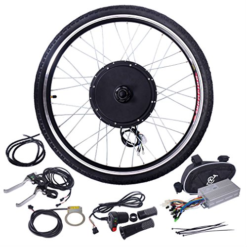 26'' 48V 1000W Ebike Front Wheel Electric Bicycle Motor Conversion Kit Motor Hub by Unknown