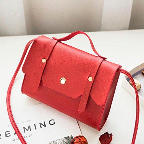Monedero mensajero bolso de Azul del Rojo estilo de mujeres cuero de de Bolso las Gusspower del vintage del Bolso hombro q80TTv