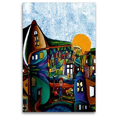 Calvendo Toile en Textile de qualité supérieure 80 cm x 120 cm La Tour D'Ivoire | Tableau sur châssis | Impression sur Toile sur Toile véritable – Impression sur Toile – Le Petit Monde a Art