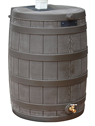 Good Ideas RW40-OAK Rain Wizard Rain Barrel 40-Gallon, Oak ()