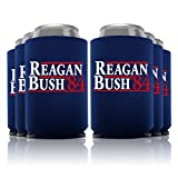 Reagan Bush '84 Can Coolers Party Favor, Navy, 6 Pc