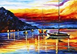 Harbor of Messina Sicily is a Limited Edition print from the Edition of 400. The artwork is a hand-embellished, signed and numbered Giclee on Unstretched Canvas by Leonid Afremov. This wonderful piece of artwork is one of many examples of how beautif...