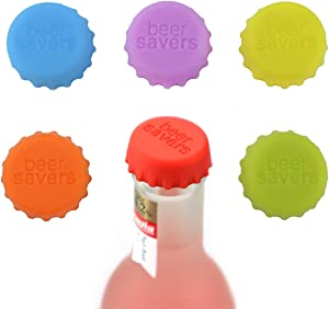 Silicone Rubber Bottle Caps, YETOOME 18PCS Reusable Beer Caps, Ideal for Home Brewing Beer, Soft Drinks, Beer bottles, Soda Bottles (6 Colors)