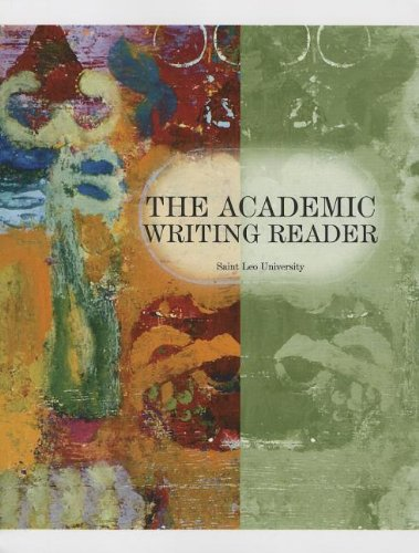 Book cover from The Academic Writing Reader by George Miller