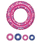 Kids Inflatable Tube Swim Ring - Swimming Pool Floats Water Rings by Floaties (Pink, Large)