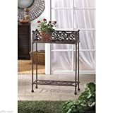 victorian shabby HEAVY cast iron long rectangle WINDOWBOX flower plant pot stand .#GH45843 3468-T34562FD60277