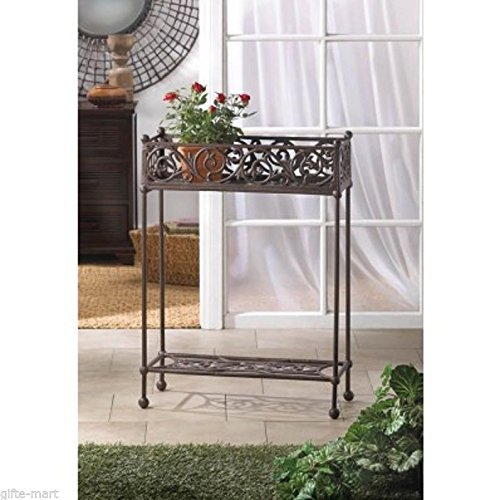victorian shabby HEAVY cast iron long rectangle WINDOWBOX flower plant pot stand .#GH45843 3468-T34562FD60277 by Nessagro