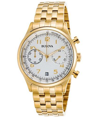 Bulova Chronograph Gold-Tone Stainless Steel Men's watch #97B149