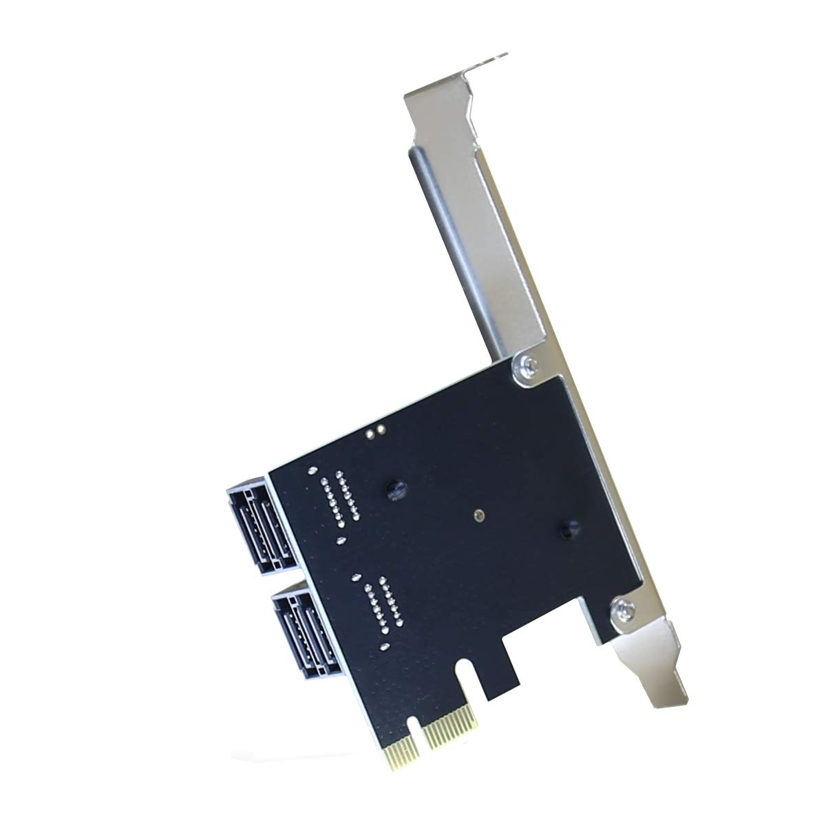 PCIe SATA Card 4 Port,Marvell 9215 Non-Raid 6Gbps PCI Express to SATA 3.0 Ports Expansion Controller ,Boot as System Disk, for Desktop PC Support SSD and HDD with Low Profile Bracket and 4 SATA Cable by YATENG (Image #5)