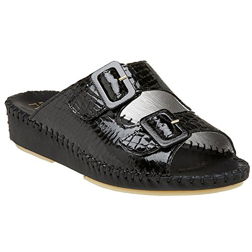 cheap sale 2015 new best sale La Plume Jen Womens Sandals Black Croco fvVwKNA1e