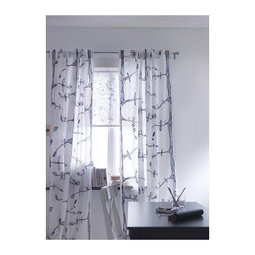 Curtains Ideas 300 cm length curtains : EIVOR Pair of curtains, white/black 300cm x 145cm Each: Amazon.co ...