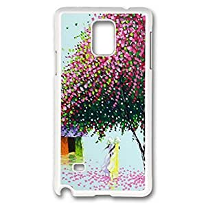 iCustomonline Illustration Under The Tree Case for Samsung Galaxy Note 4 PC White
