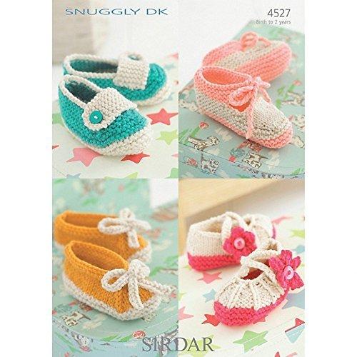 Sirdar Baby Shoes Knitting Pattern 4527 DK by Sirdar by Sirdar