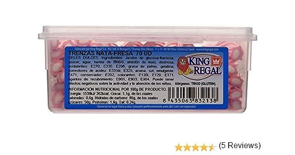 King Regal Trenzas Nata Fresa Maxi - estuche 70 unidades: Amazon.es: Alimentación y bebidas