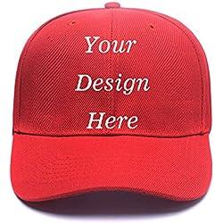 Unisex Cotton Baseball Cap - Custom Personalized Adjustable Hat Hats