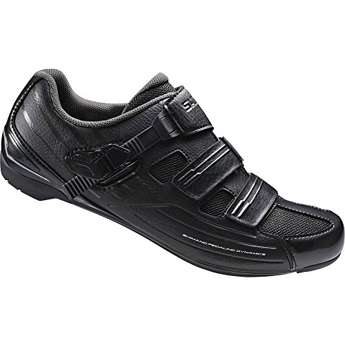 Road Mens Bike Shoes (Shimano Men's RP3 Black Road Cycling Shoes - 42)