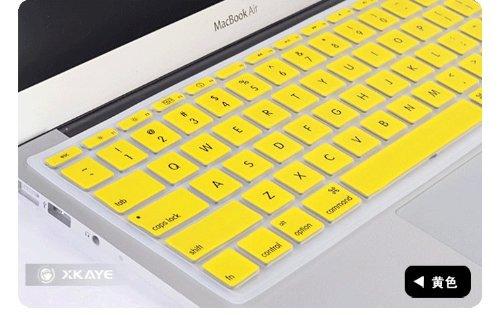 Smart Tech ® Ultra Thin Clear Soft TPU Keyboard Cover Skin for Macbook Pro 13 15 17 Inch (keyboard Cover+yelloe)