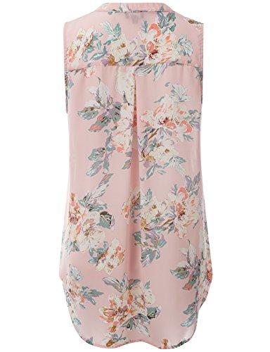 J.TOMSON PLUS Women's Floral Printed Loose Fit Blouse PINK XL