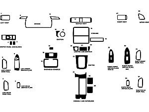 Rdash Dash Kit Decal Trim for Toyota Camry 1997-2001 - Wood Grain (Burlwood Honey)