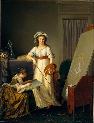 (Marie-Victoire Lemoine The Interior of an Atelier of a Woman Painter ~ Self-Portrait with Vigee-Lebrun Metropolitan Museum of Art NY 30