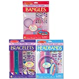 Melissa & Doug Design-Your-Own Jewelry-Making Kits - Bangles, Headbands, and Bracelets