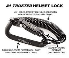 Buy here Online - BigPantha Helmet Lock - Safe, Quick & Easy Way for Locking Your Helmet to Your Ride!         BEWARE OF CHEAP IMITATIONS THAT DO NOT HAVE THE PROTECTIVE RUBBERIZED SLEEVE         The Problem - What to do with your ...