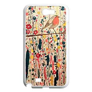 Watercolor bird DIY Cover Case for Samsung Galaxy Note 2 N7100,customized Watercolor bird Phone Case