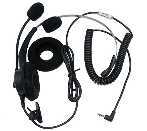 SUNDELY Single Ear Boom Mic Headphone for Lucky Goldstar (LG) Motorola NEC Nextel Panasonic Polycom Telephone/IP Phone with 2.5mm 1-pin (I85 Series)
