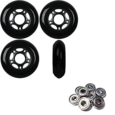Player's Choice Outdoor Inline Skate Wheels 72MM 89a Black x4 W/ABEC 9 Bearings : Sports & Outdoors