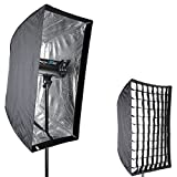 "Neewer Photo Studio 24"" x 36""/60 x 90cm Rectangle Umbrella Type Speedlite Softbox with Grid for Portraits,Product Photography and Video Shooting"