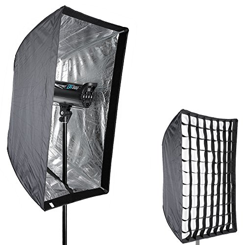 Neewer Photo Studio 24'' x 36''/60 x 90cm Rectangle Umbrella Type Speedlite Softbox with Grid for Portraits,Product Photography and Video Shooting by Neewer