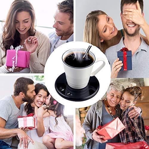 con Due Temperature di Controllo per Uso Domestico o dufficio con Piastra per Bevande Tazza elettrica Scalda Tazza di caff/è Intelligente Scaldabiberon Elettrico