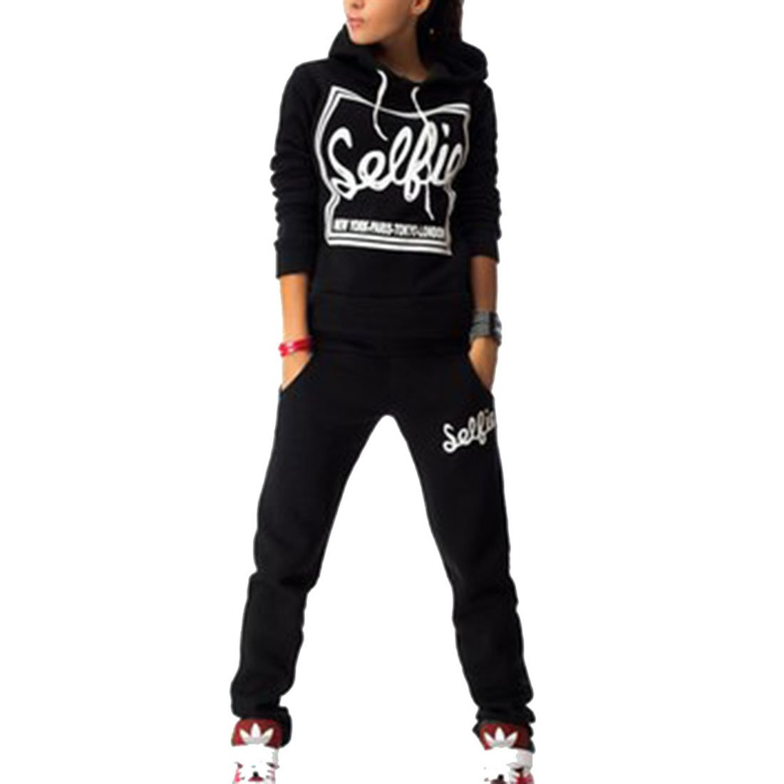 Sweatsuit Women Sports Long Sleeve Pullover Sweatshirt Hoodie SweatPants 2 Pieces Set Tracksuit Outfits