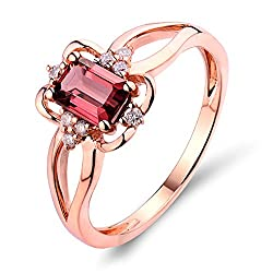 Rose Gold With Pink Tourmaline Diamond Ring