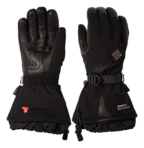 Ziener Women's Heated Ski Gloves Kanika as pr Hot black, 6.5 by Ziener
