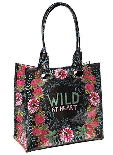 Papaya Art Dramatic Gypsy Rose Wild At Heart Luxe Tote Handbag - Heart Tote Bag