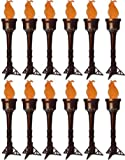 12 Electric Silk Faux-Flame Battery Operated Costume Decoration Hand Held Prop Torch Light
