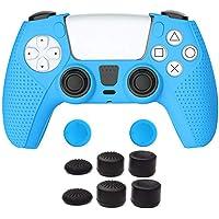 A manga de silicone TwiHill é adequada para PS5, manga protetora antiderrapante PS5 (Azul)