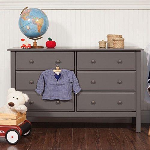 Nursery Dresser Vinci Da (DaVinci Jayden 6-Drawer Double Wide Dresser, Slate)
