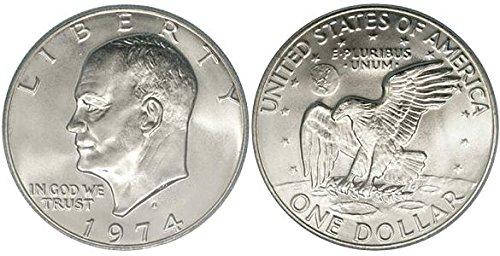 Flintski Jewelry Eisenhower Silver Dollar Sterling Silver//Rhodium Plate Hinged Back Money Clip