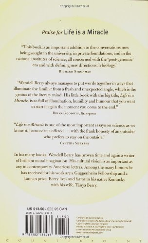 Life Is A Miracle An Essay Against Modern Superstition Wendell  Life Is A Miracle An Essay Against Modern Superstition Wendell Berry   Amazoncom Books