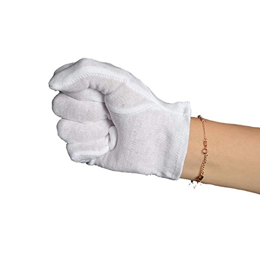 Ogquaton Los Guantes de Etiqueta de algodón Blanco de Performance ...