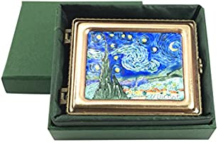 3L x 2.5W x 1T 3L x 2.5W x 1T EF510 Starry Night Enameled Van Gogh Miniature Jewelry Box by Kelvin Chen