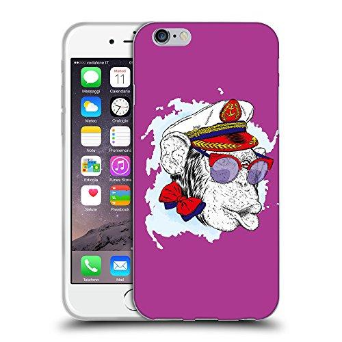 "GoGoMobile Coque de Protection TPU Silicone Case pour // Q05000621 Capitaine singe byzantin // Apple iPhone 6 4.7"""